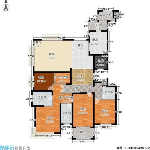 雅戈尔东海府4室1厅3卫1厨229.00㎡户型图