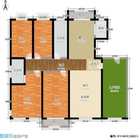 新城国际4室0厅2卫1厨205.00㎡户型图