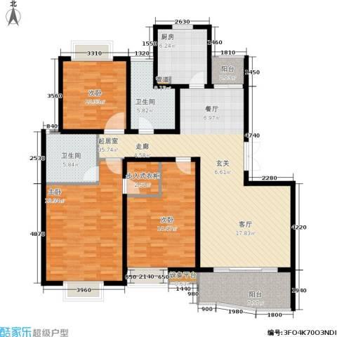 爱家亚洲花园3室0厅2卫1厨156.00㎡户型图