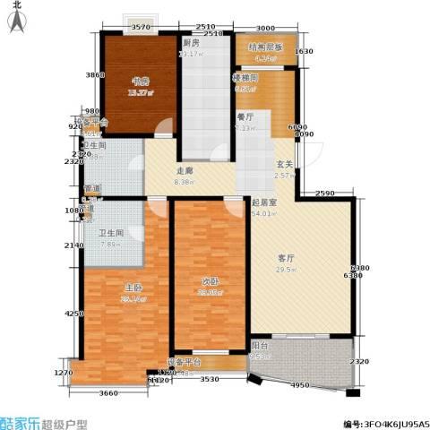 城市艺术季3室0厅2卫1厨180.00㎡户型图