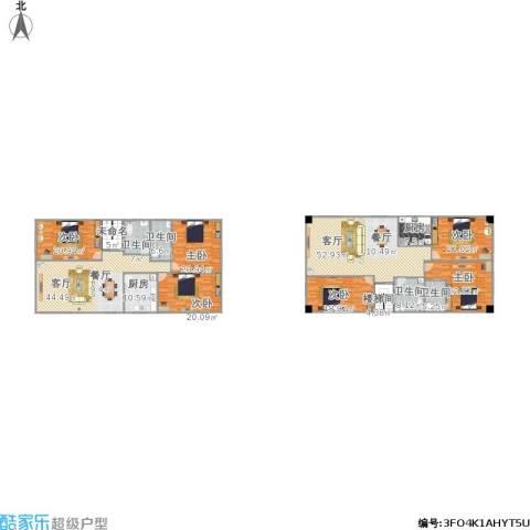 富景华庭6室2厅4卫2厨367.00㎡户型图