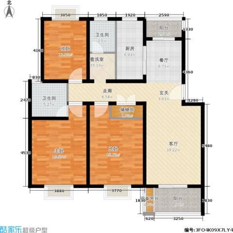 大富苑3室0厅2卫1厨110.00㎡户型图