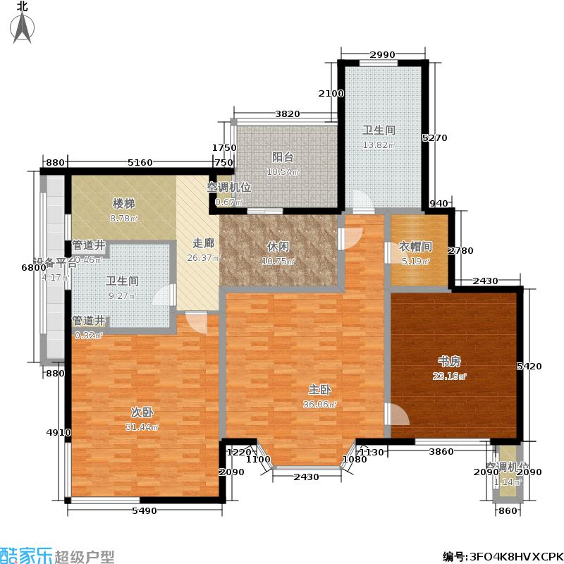绿地崴廉公寓185.32㎡一期h5a户型