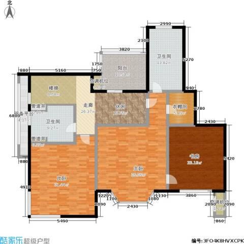 绿地崴廉公寓3室0厅2卫0厨183.33㎡户型图