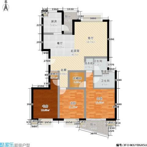 夏阳湖国际花园3室0厅2卫1厨127.00㎡户型图