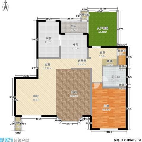 绿地崴廉公寓1室0厅1卫1厨184.78㎡户型图