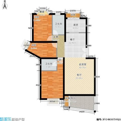 香榭里花园3室0厅2卫1厨115.00㎡户型图