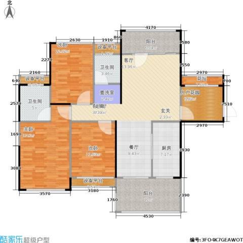 嘉福国际3室1厅2卫1厨162.00㎡户型图