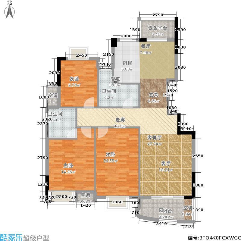 贝利栖溪公馆123.00㎡L户型