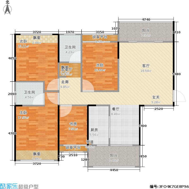 嘉福国际户型4室1厅2卫1厨