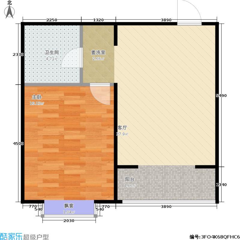 上院52.00㎡上院户型图一室一厅一卫(26/30张)户型10室