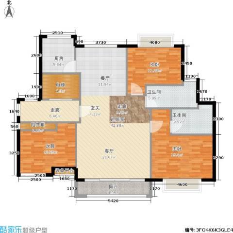 环球翡翠湾花园3室0厅2卫1厨131.00㎡户型图