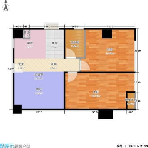 恒大金都2室0厅1卫0厨86.00㎡户型图