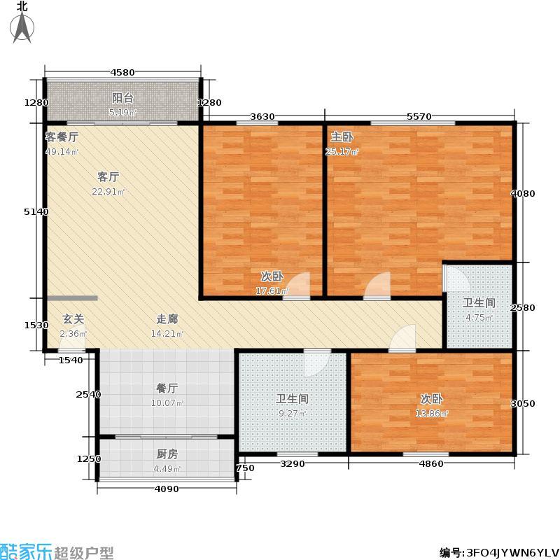 东海名仕家园138.00㎡面积13800m户型