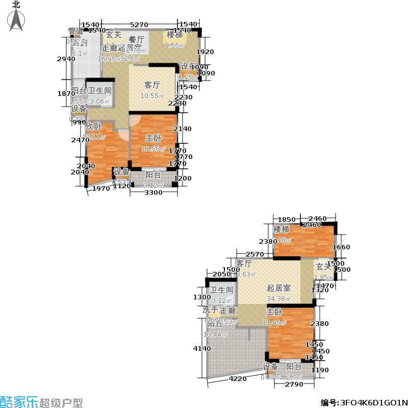 海洲景秀世家151.81㎡海洲景秀世家户型图美院复式四室两厅两卫(1/9张)户型4室2厅2卫