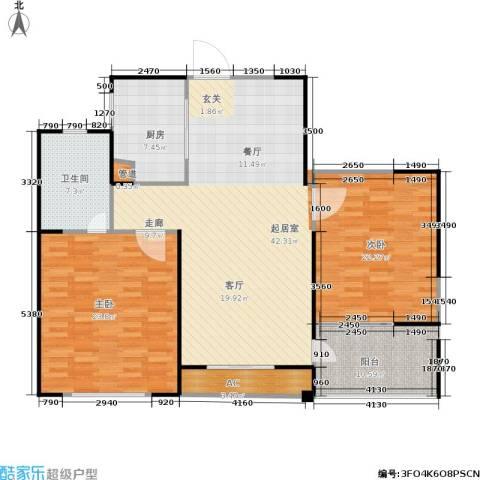 长江国际花园二期1室0厅1卫1厨90.00㎡户型图