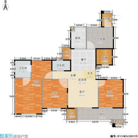 长江国际花园二期3室0厅2卫1厨141.00㎡户型图