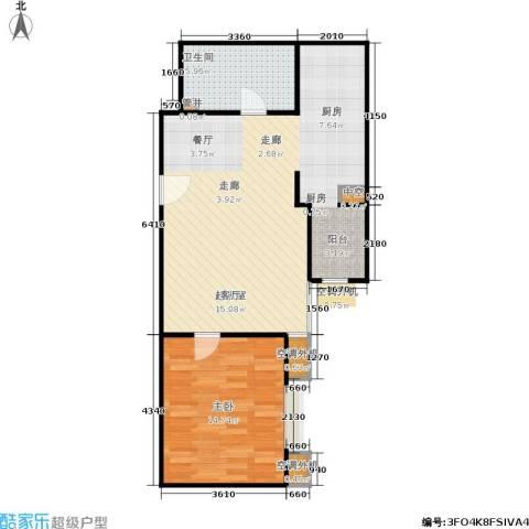 CBD总部公寓1室0厅1卫0厨63.00㎡户型图