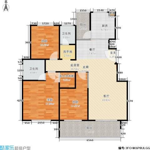 建大教授花园3室0厅2卫1厨150.00㎡户型图