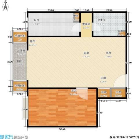 CBD总部公寓1室0厅1卫1厨81.00㎡户型图