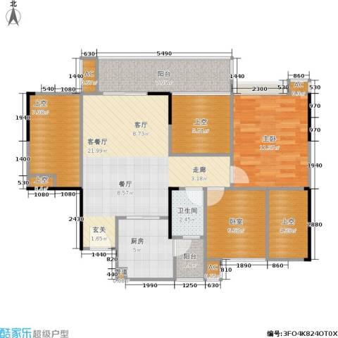 熙和园1室1厅1卫1厨83.00㎡户型图
