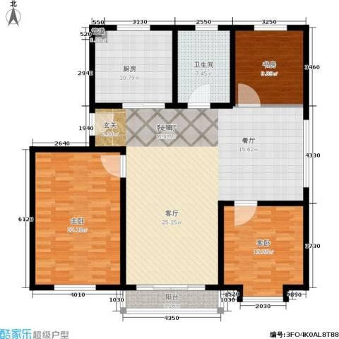 御景山庄3室1厅1卫1厨116.99㎡户型图