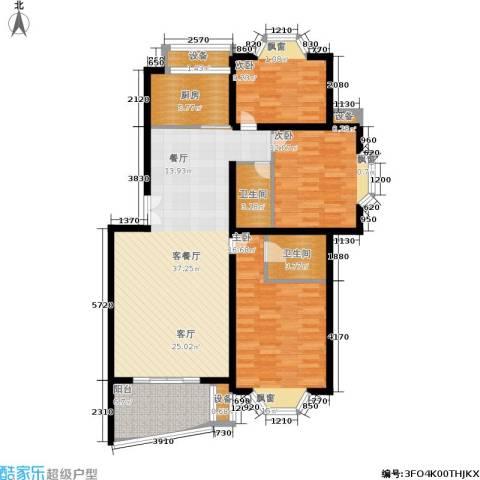 香榭里花园3室1厅2卫1厨111.00㎡户型图