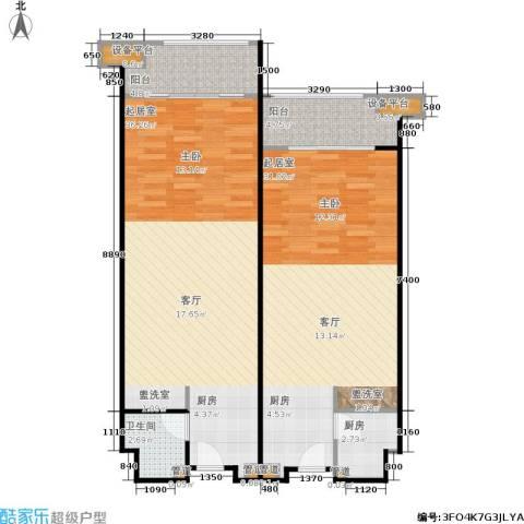 嘉福国际1卫1厨112.00㎡户型图