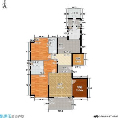 经典茂名公寓3室0厅3卫1厨180.00㎡户型图
