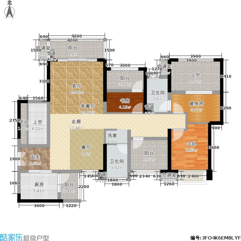 星河盛世121.00㎡星河盛世户型图A2座2单元02偶数层四房二厅二卫(8/10张)户型4室2厅2卫