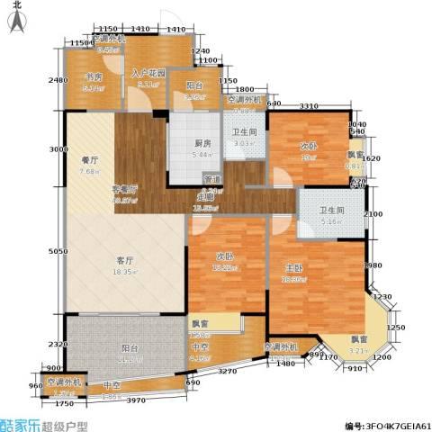 中融金湖名城,御湖4室1厅2卫1厨134.00㎡户型图