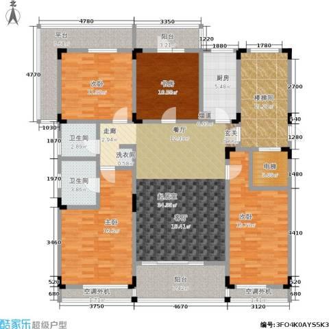 阳光100国际新城4室0厅2卫1厨158.00㎡户型图