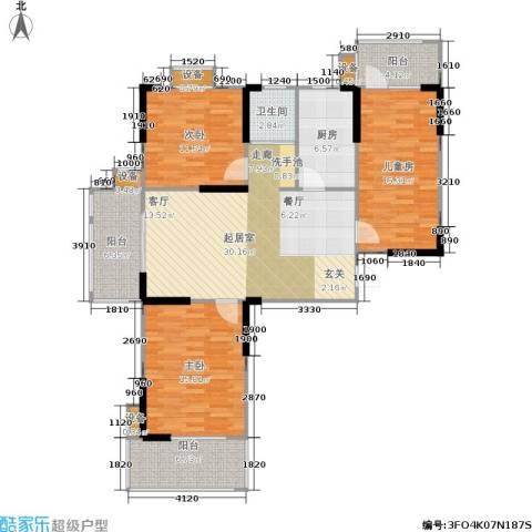 莱茵河畔花园3室0厅1卫1厨120.00㎡户型图