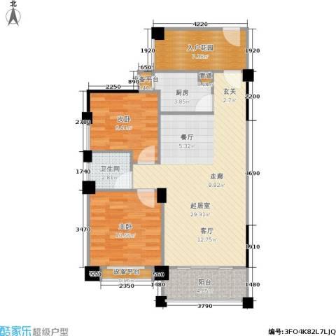 三景国际2室0厅1卫1厨88.00㎡户型图