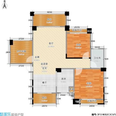 三景国际2室0厅1卫1厨94.00㎡户型图