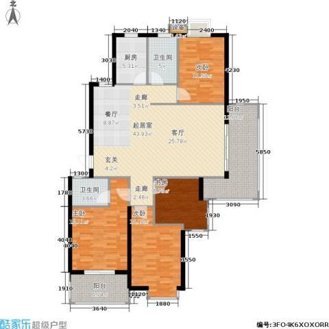 月夏香樟林4室0厅2卫1厨137.00㎡户型图