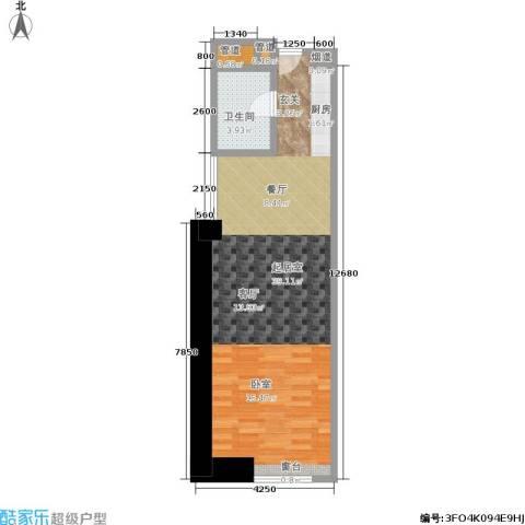 敏捷国际公寓1卫0厨71.00㎡户型图