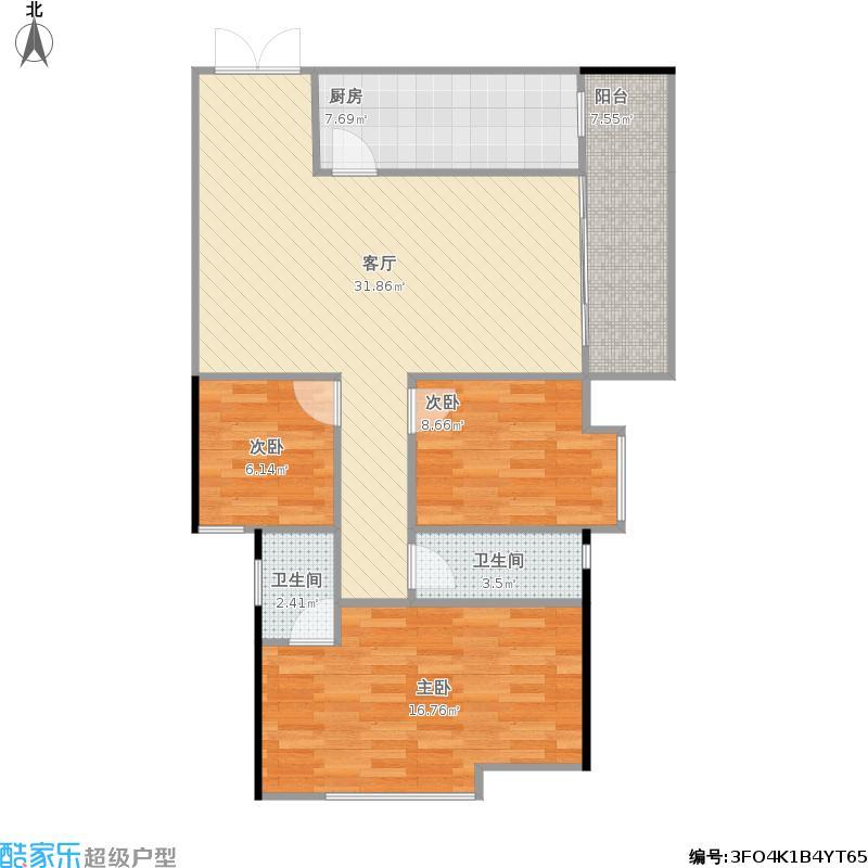 康盛南苑A4三房两厅
