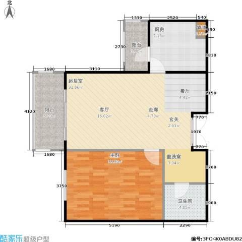 相来家园1室0厅1卫1厨77.00㎡户型图