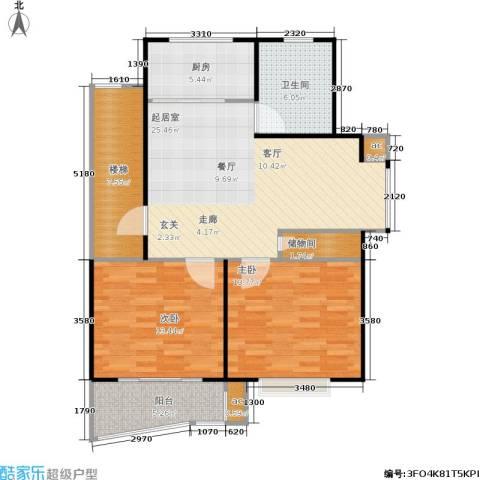万汇秀林水苑2室0厅1卫1厨79.69㎡户型图