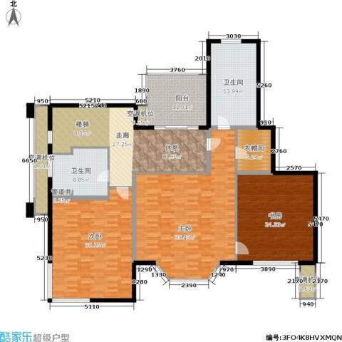 绿地崴廉公寓3室0厅2卫0厨185.32㎡户型图