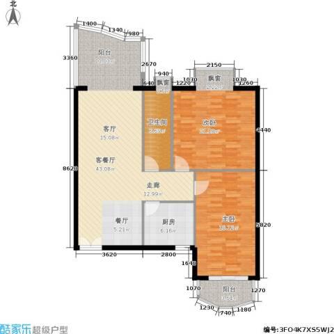 世纪佳园2室1厅1卫1厨135.00㎡户型图