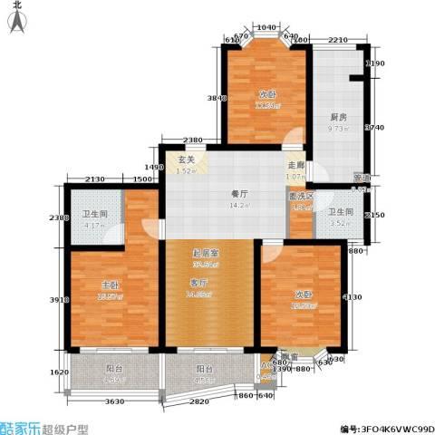 梦家园3室0厅2卫1厨115.00㎡户型图