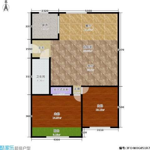 中兴公寓2室0厅1卫1厨76.00㎡户型图