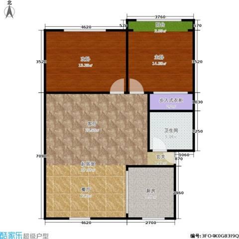 中兴公寓2室0厅1卫1厨87.00㎡户型图