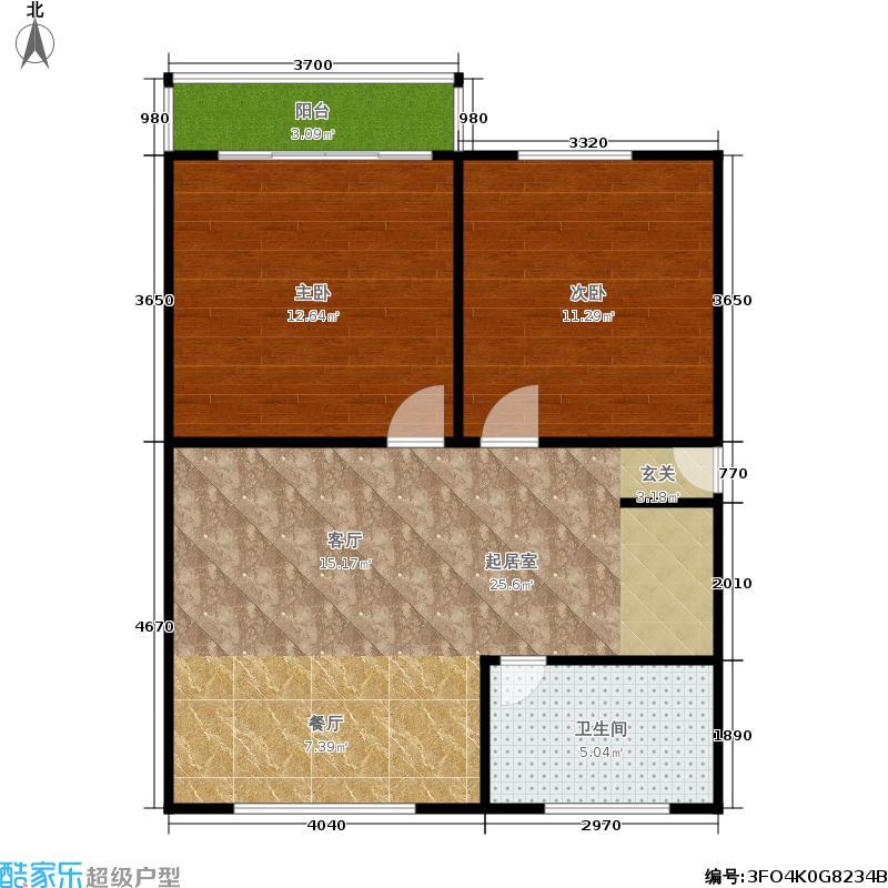 中兴公寓62.00㎡面积6200m户型