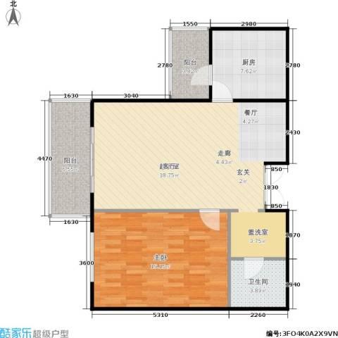 相来家园1室0厅1卫1厨81.00㎡户型图