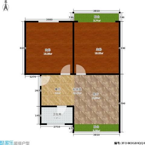 中兴公寓2室0厅1卫0厨66.00㎡户型图