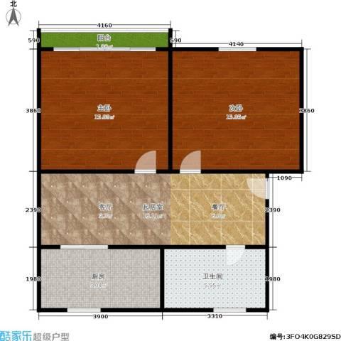 中兴公寓2室0厅1卫1厨66.00㎡户型图