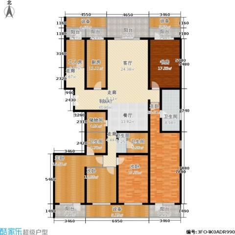 中华家园5室1厅3卫1厨274.00㎡户型图